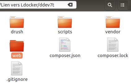 Arborescence d'un projet docker ddev avec drupal 7 (drupal-composer)