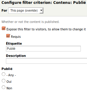 Views 7.x-3.8 : modifier le filtre, pour l'exposer aux visiteurs