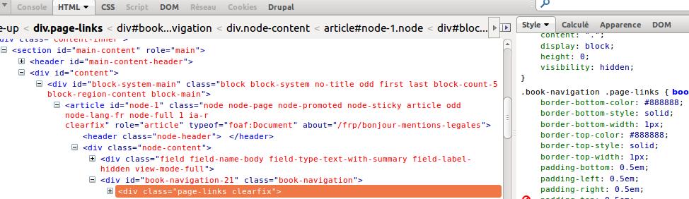firebug, regarder les CSS