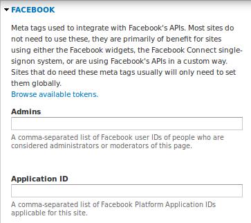 Module Métatag (7.x-1.1) - sous module facebook pour un contenu