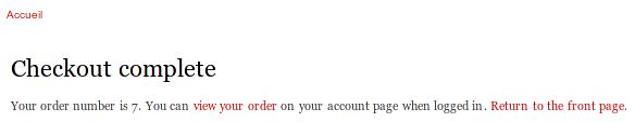"""le client a payé et clique sur le lien """"Retour sur p nom's Test store"""""""""""