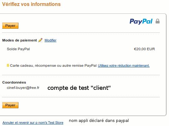 l'acheteur a un compteb Paypal et se logue sur paypal